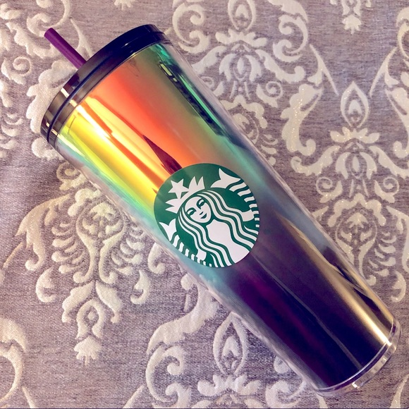 NWT Starbucks Oil Slick Gradient Cold Cup Tumbler